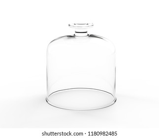 Glass Plate Cover Isolated On White Background. 3D Render