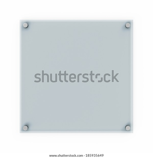 Glass Plate isolated on white background