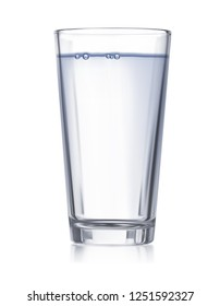Glass with water isolated. Realistic 3d illustration