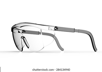 glasses safety isolated on a white back ground.