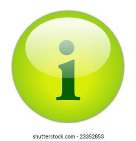 Glassy Green Information Icon