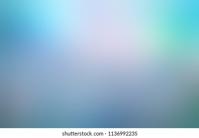 Gleam blue green blurry ombre pattern. Fantasy empty background. Fairy abstract texture. Defocus template.