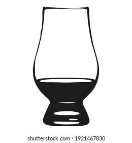 Glas-Whisky-Glas für schwarze Aufnahme
