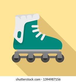 Glide inline skates icon. Flat illustration of glide inline skates icon for web design