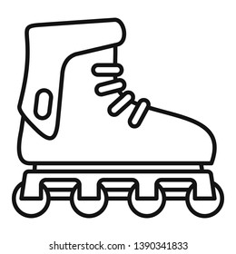Glide inline skates icon. Outline glide inline skates icon for web design isolated on white background