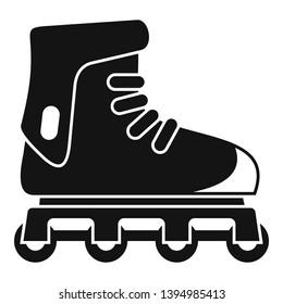 Glide inline skates icon. Simple illustration of glide inline skates icon for web design isolated on white background