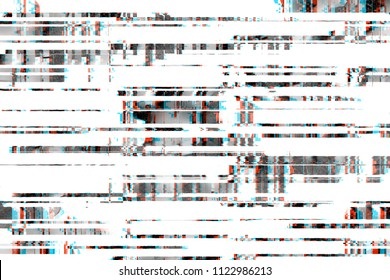 Glitch background realistic flickering. TV signal with bad interference, static noise texture.