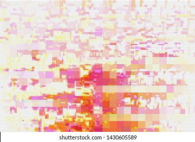 Glitch digital screen pattern white background noise,  light artifact.