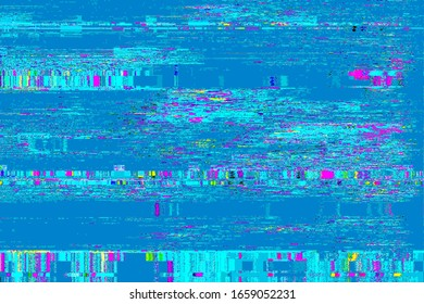 Glitch no signal background pixel noise display tv, texture analog.