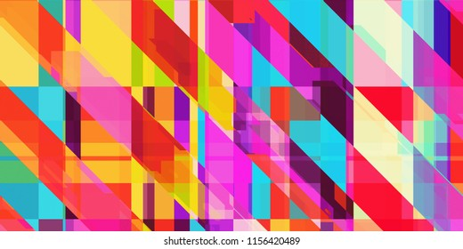 Glitch psychedelic background. Technical problem grunge wallpaper. Colorful noise