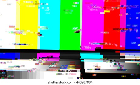 Glitch random digital signal malfunction. High resolution illustration 10910 from a series of abstract future tech imagery.