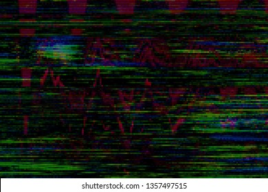 Glitch vhs background artifact noise damage texture,  signal design.