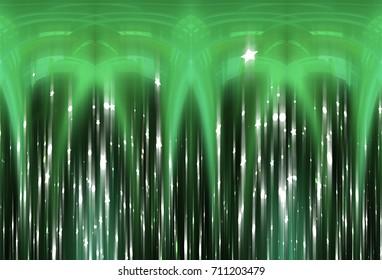 Glitter Green Abstract Background Illustration.