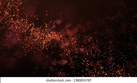 glitter particles background