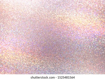 Glitter pastel pink textured background. New year glitz abstraction. Sparks surface.