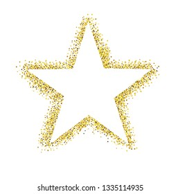 Glitter Star Isolated