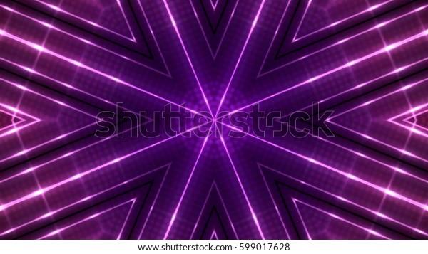 Glittering stage lights