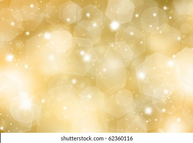 Glittery gold Christmas background