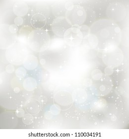 Glittery silver abstract Christmas background. For vector version, see my portfolio.