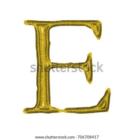 Royalty Free Stock Illustration of Glittery Sparkling Golden