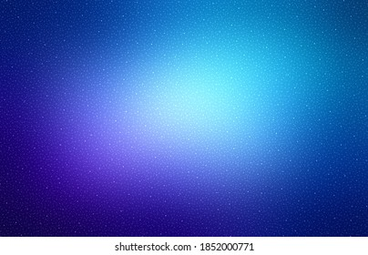 Glitz dust on deep blue vignette background.