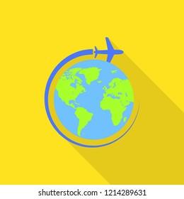 Global avia flight icon. Flat illustration of global avia flight icon for web design