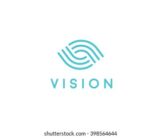 Global camera eye logo. Photo video control icon. Path road intersection logotype