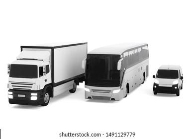 Global cargo transport concept. 3d illustration.
