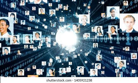 Global communication network concept. Diversity.