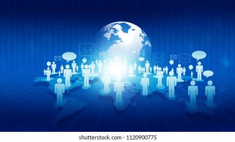 global communication networks. 3d illustration