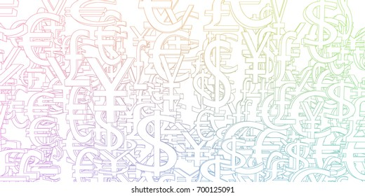 Global Currencies Background as a Currency Pattern Art