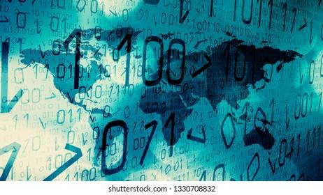 Global cyber attacks, digital technology threats