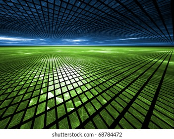 Global Grid - Fractal Landscape