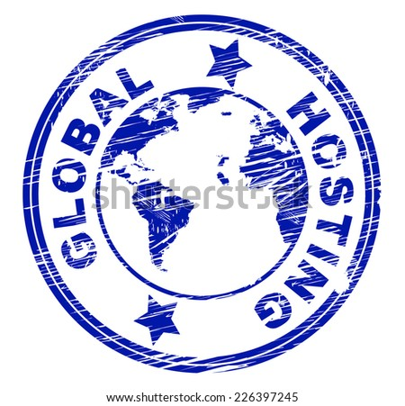 Royalty Free Stock Illustration Of Global Hosting Meaning Computer