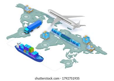 Concept mondial de logistique - rendu 3d