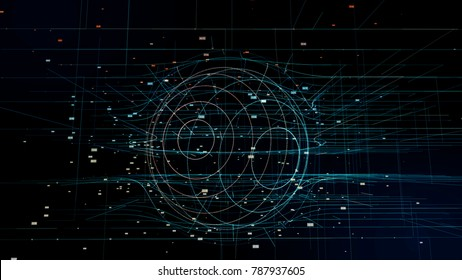 Global network concept. Abstract computer graphics.