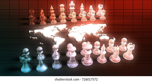 Global Strategy For a Business Company Startup 3D Illustration Render