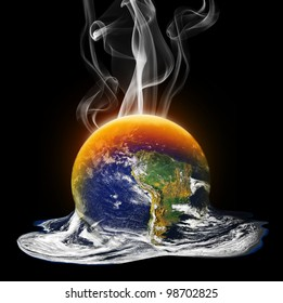 Global Warming Melting the Earth