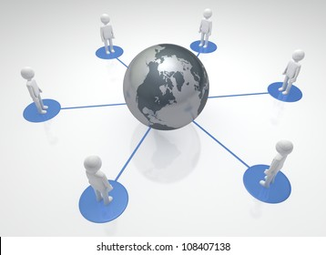Globally Community Individuals linked together world-wide