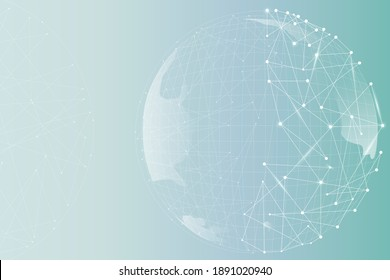 Globe digital business with gradient background