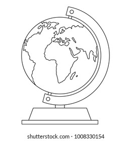 Globe icon. Outline illustration of globe  icon for web