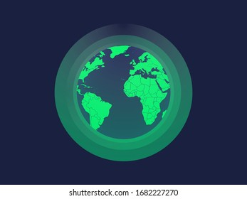 Globe illustration for earth protection