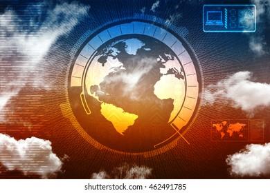 globe internet connecting,2d illustration
