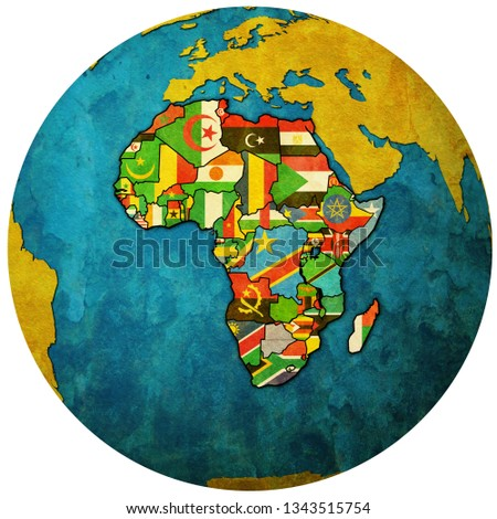 African Union Map.Royalty Free Stock Illustration Of Globe Map Political Map African