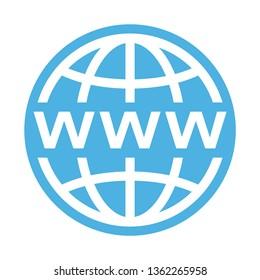 Globe network symbol icon
