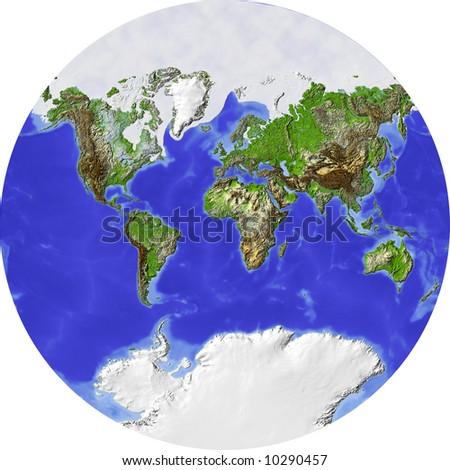 Globe Showing Whole World Circle Shaded Stock Illustration 10290457 ...