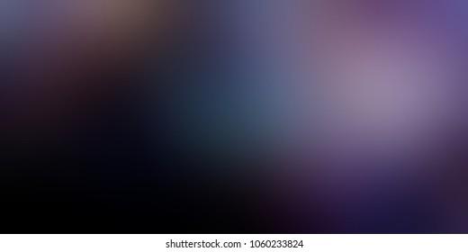 Gloomy black violet blue pattern. Empty background. Mystery gleam illustration. Blurry texture. Thriller template.