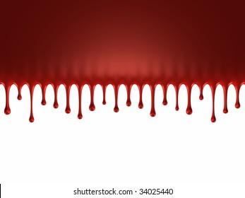Glossy blood splash