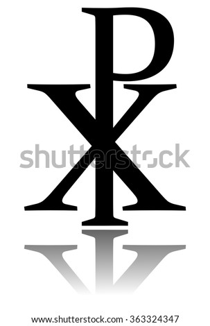 Glossy Chi Rho Symbol Drop Shadow Stock Illustration Royalty Free