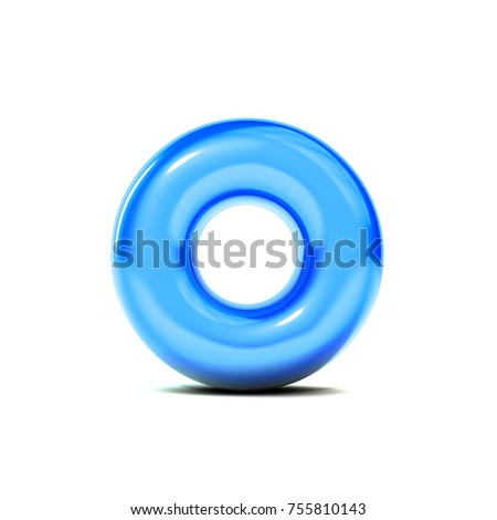 Glossy Letter O Bubble Font Isolated Stock Illustration 755810143